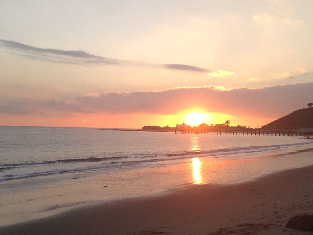 Photo in Sea and Sand #marinelayer sunset sun sur