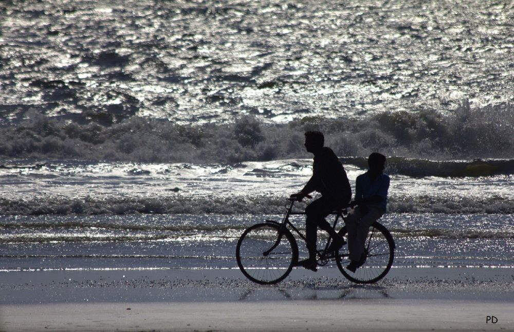 cycling with the wave by prajeshdutta