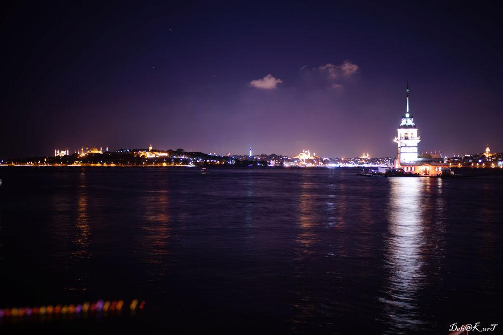 Photo in Random #ah istanbul #istanbul #night #gece #kız kulesi #ypa2013