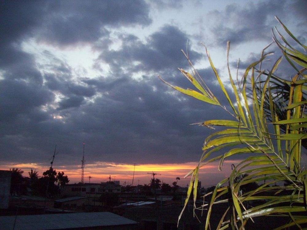 Just After Sunset ( at Lome, Togo, West Africa) by GAUTAM SENSARMA