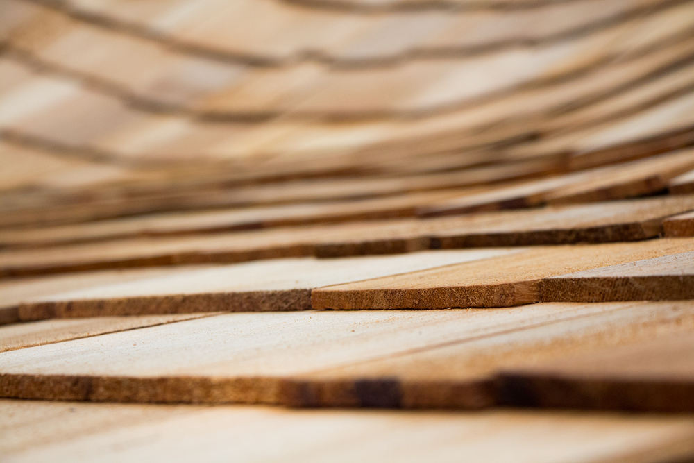 Photo in Architecture #wood #roof #depth of field #curves