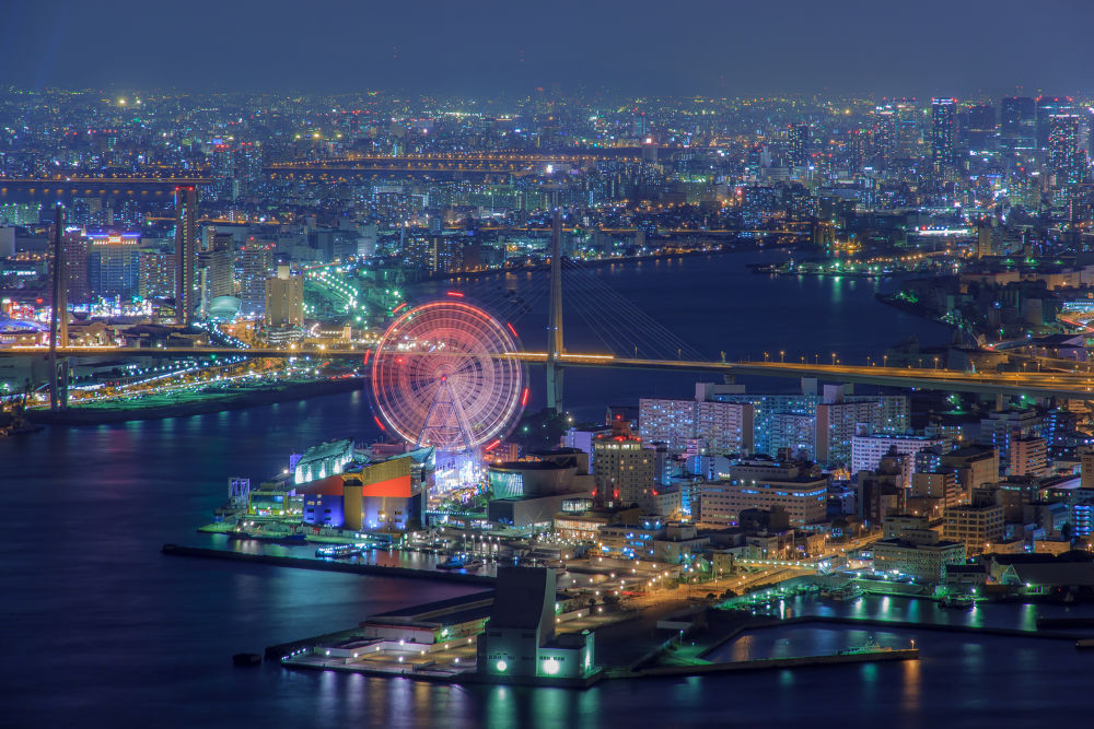 Seaside amusement park by Ryusuke Komori