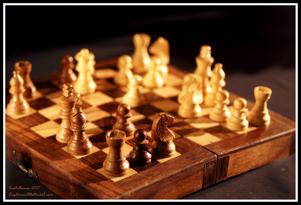 My little chess (travel chess) by George Castellanos