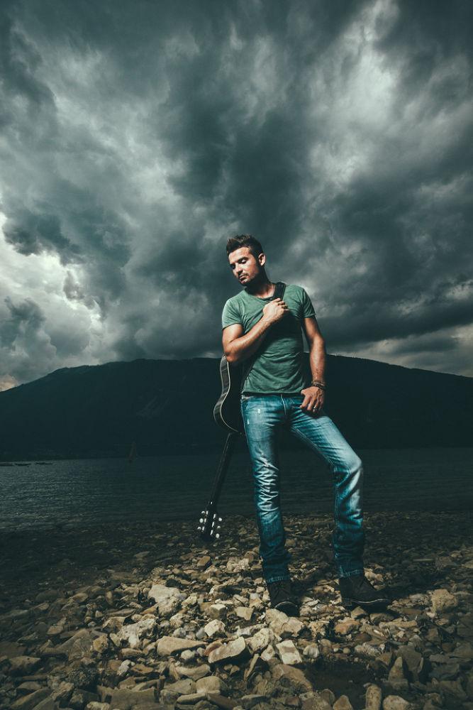 Photo in Portrait #ypa2013 #portrait #portraits #andrea #livieri #music #musician #guitar #guitarist #fender #gibson #flash #strobist #strobo #ranger #quadra #elinchrom #canon #sigma #7d #lake #mountain