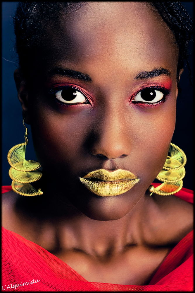 Photo in Fashion #woman #red #africa #beauty #glod