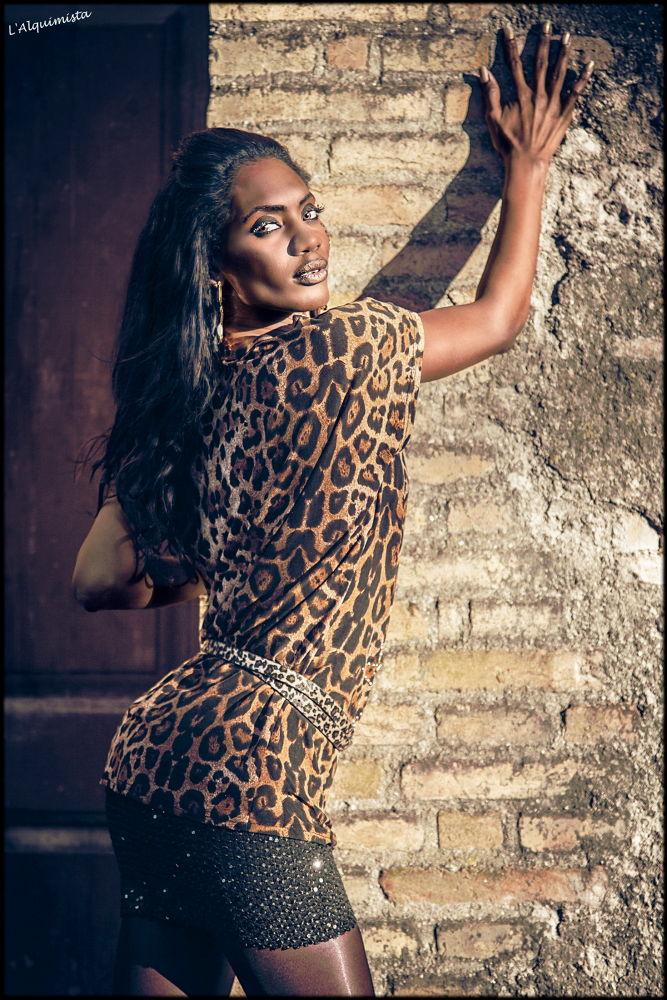Photo in Fashion #woman #ebony #leopard #animal print #fashion #beauty #color