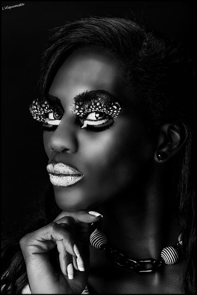 Photo in Fashion #ebony #beauty #makeup #b&w #woman