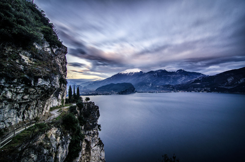 Photo in Landscape #italy #landscape #nature #sky #clouds #mountains #lake garda