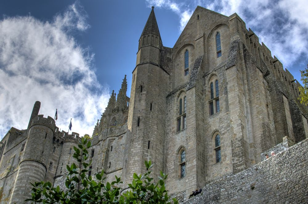 Photo in Architecture #mont st michel #castle #fort #france