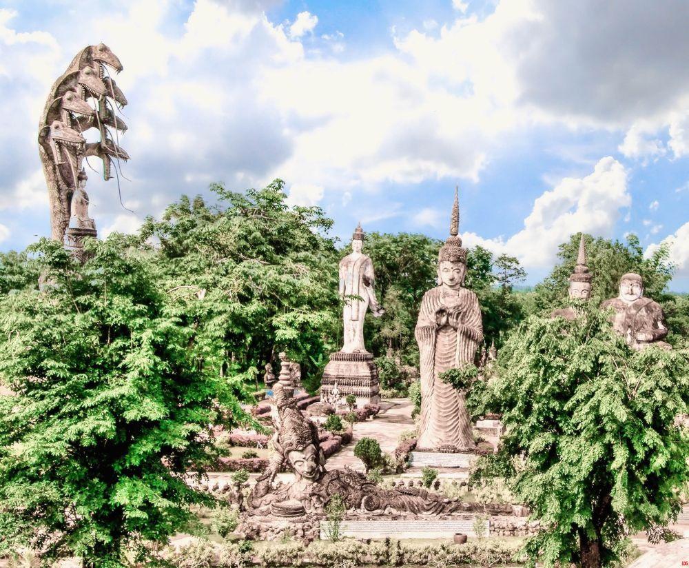 Big Buddha Park At Nong Khai  by Lloyd de Gruchy