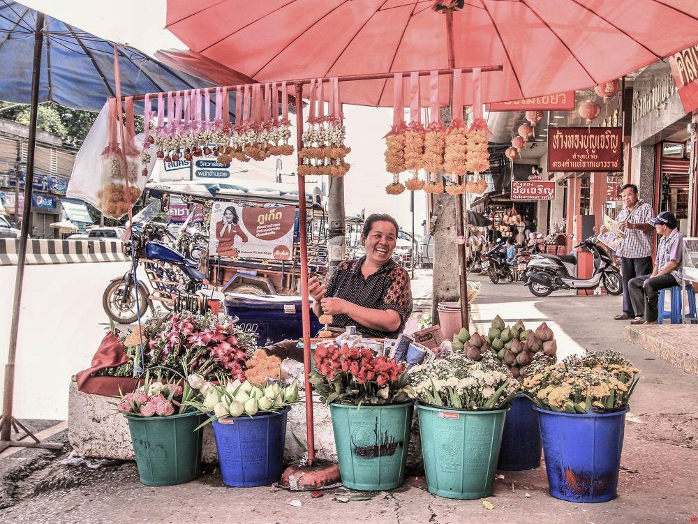 Street Life Udonthani Thailand by Lloyd de Gruchy