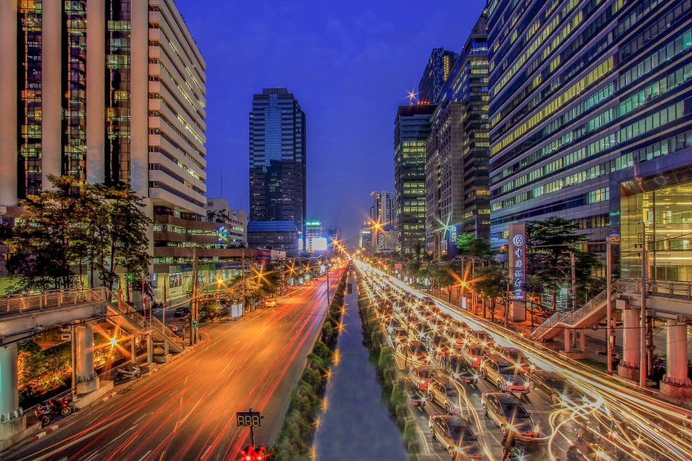 Rush Hour BKK by Lloyd de Gruchy