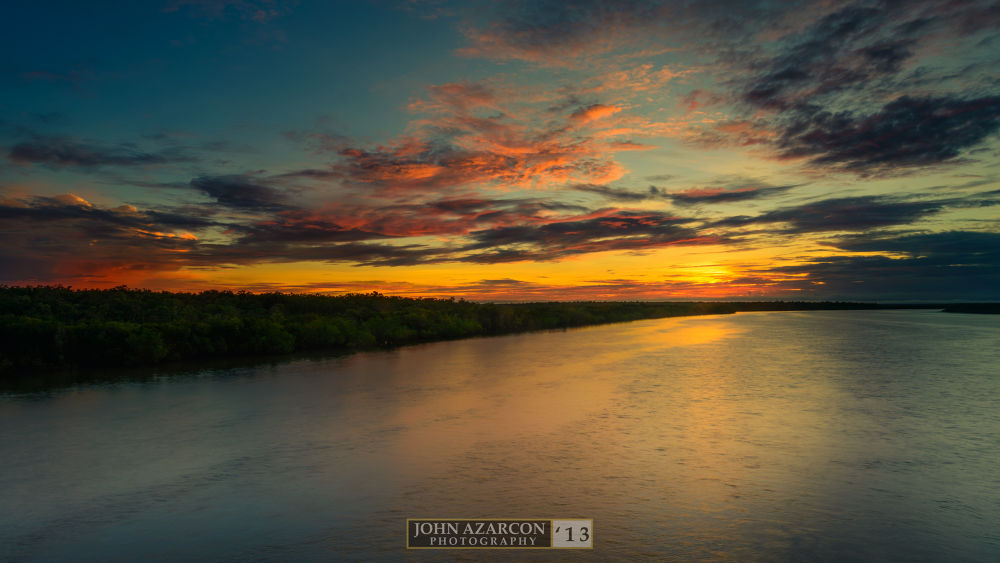 Sunrise Over the bridge by jrazarcon