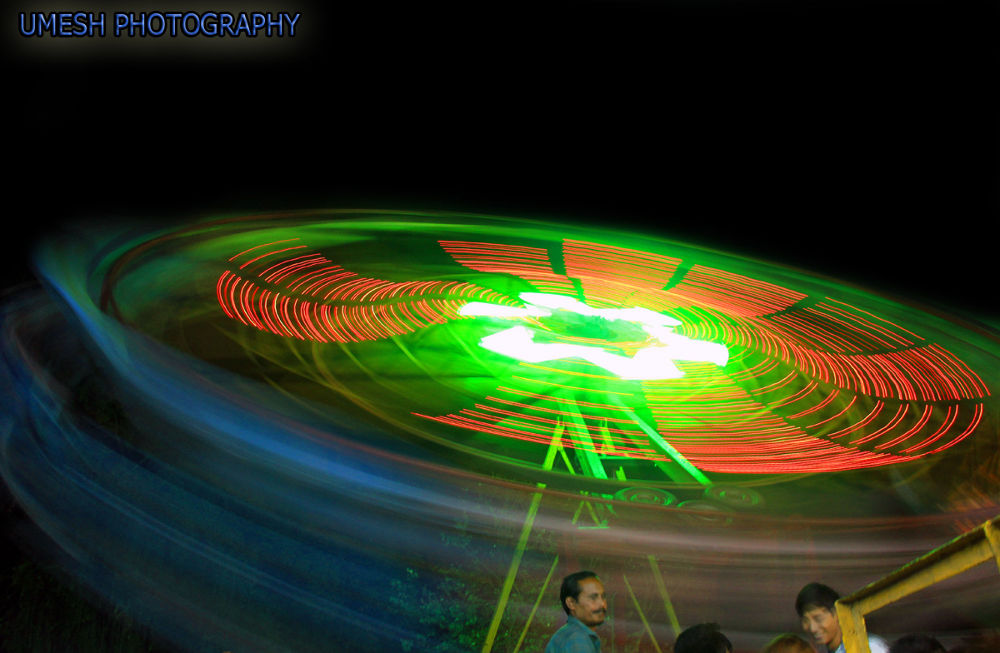With slow shutter speed by umesh pun