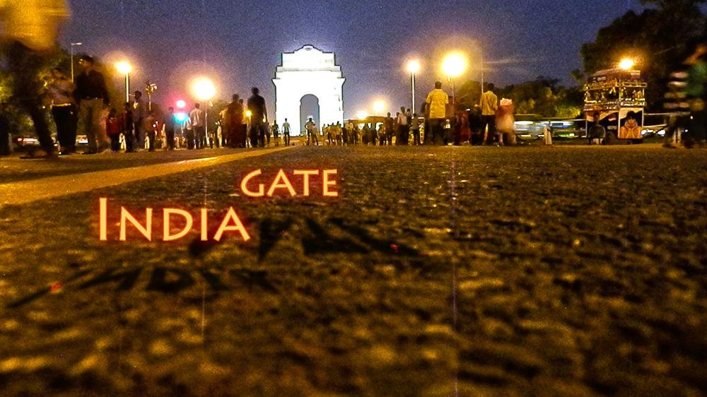 Photo in Architecture #india #gate #new #delhi #night #distant #blur #white #monument