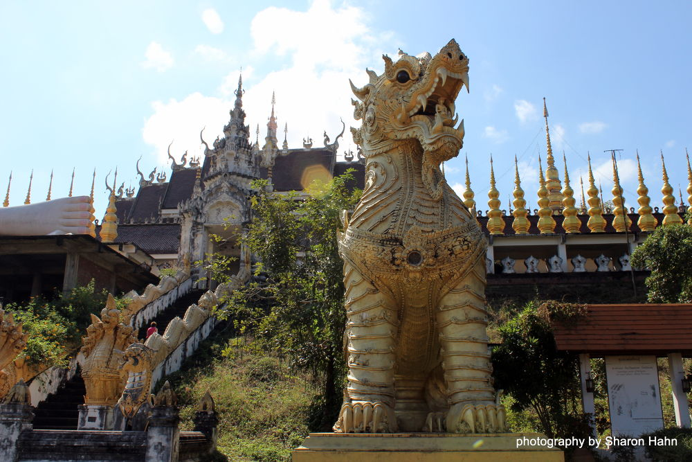 Temple with Lion Guard, Ayttuhaya, Ancient Siam by #LuvToTravelWorld