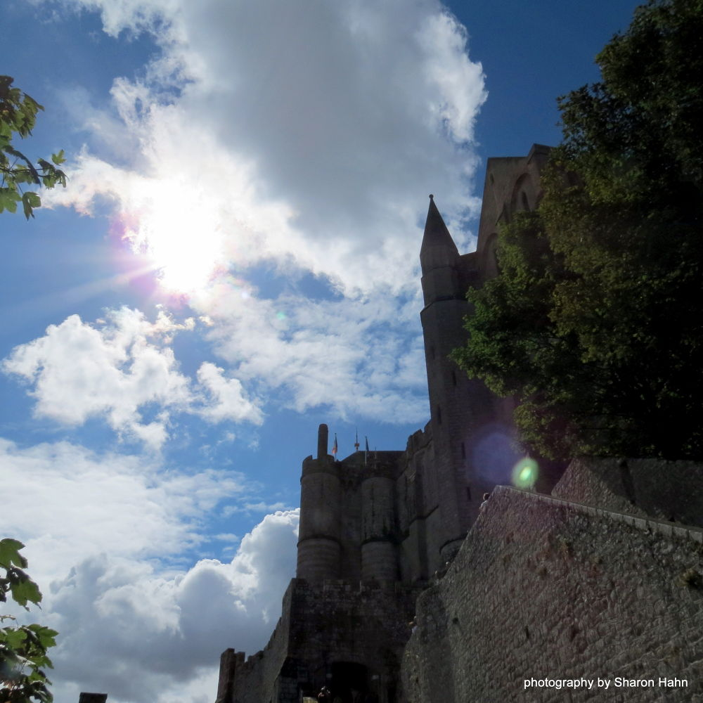 Abbey in the Sunshine ~ Mont St. Michel by #LuvToTravelWorld