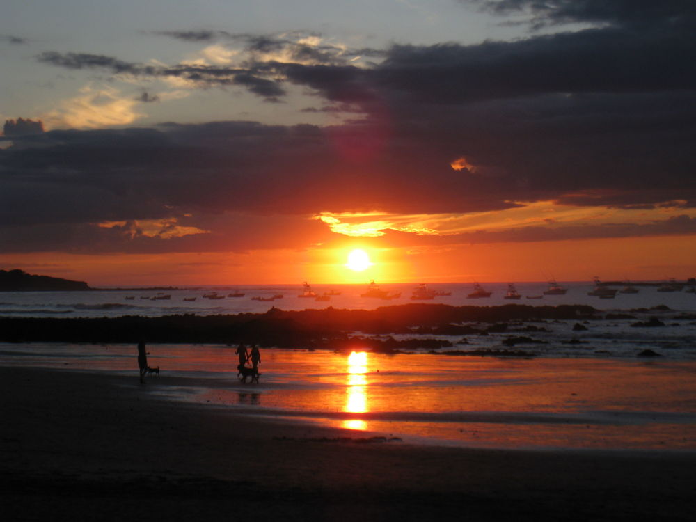 Costa Rican Sunset over the Pacific, Tamarindo by #LuvToTravelWorld