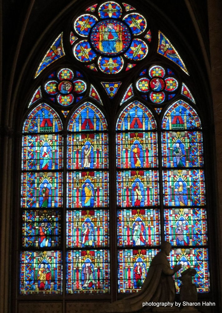 Stained Glass ~ Notre Dame by #LuvToTravelWorld