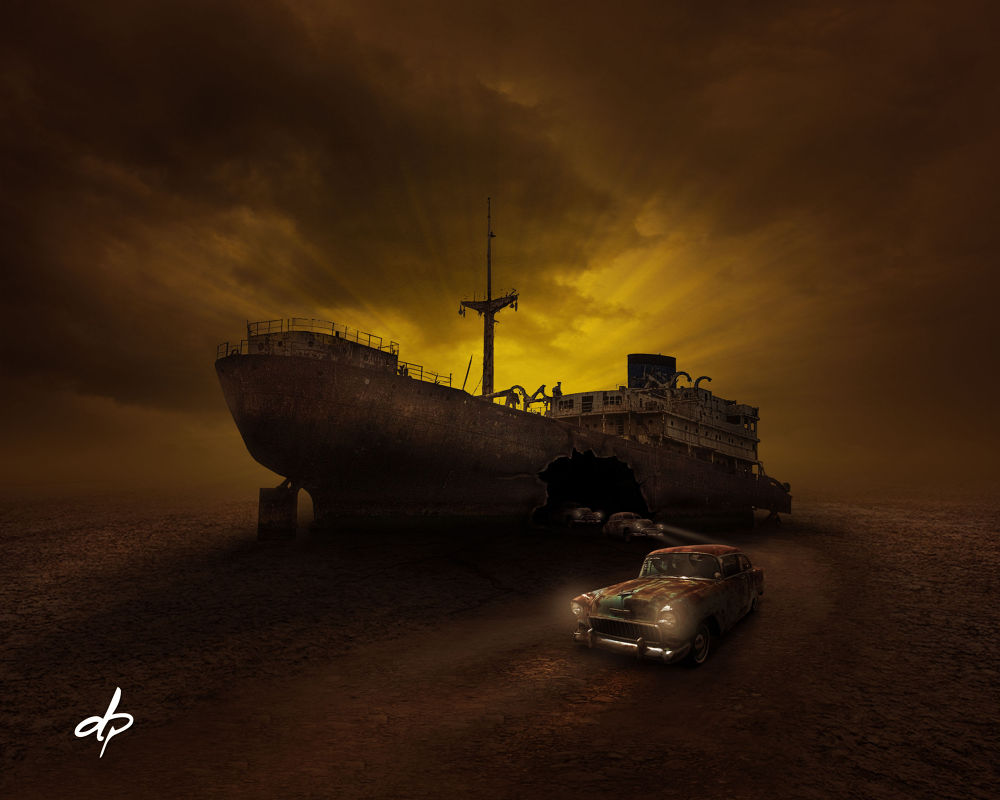 ghost ship by Dheny Patungka