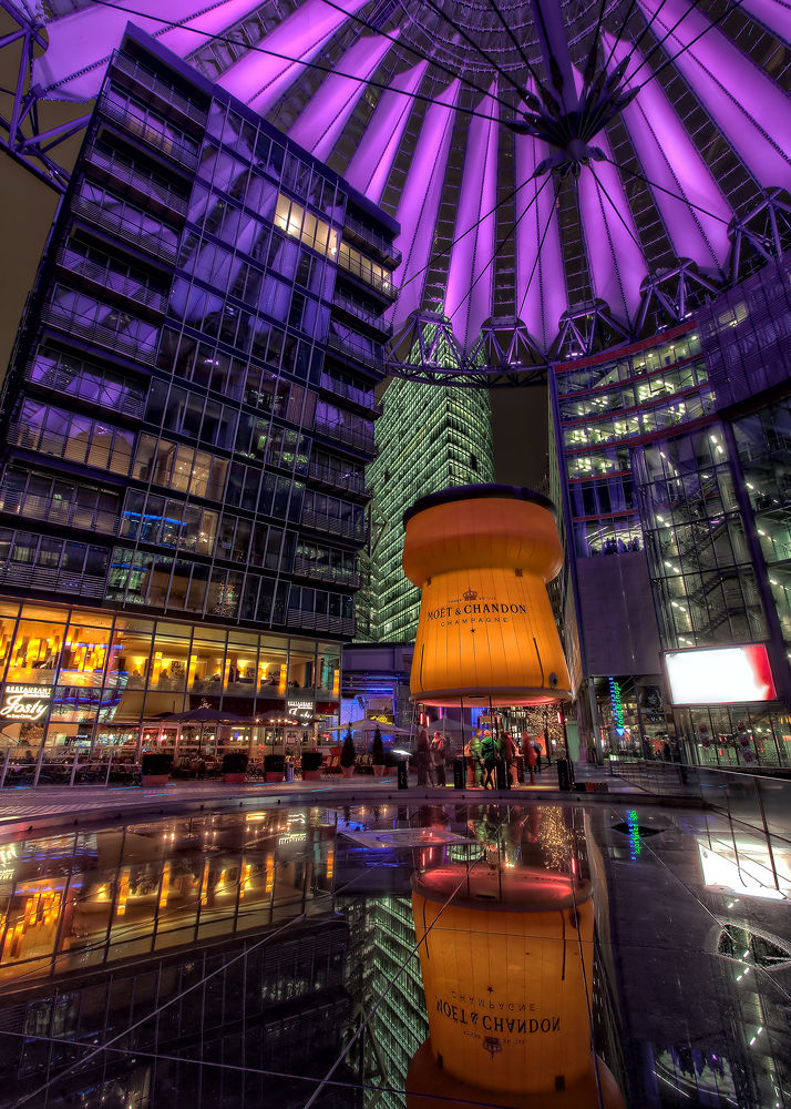 Champagne Bar in the Sony Center | Berlin, Germany by Nico Trinkhaus