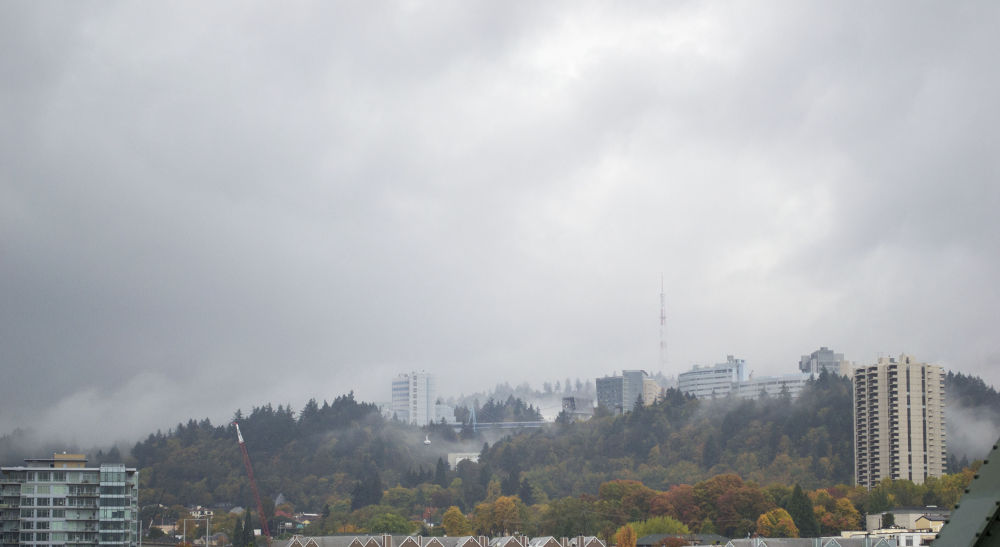 OHSU from downtown portland by alberanek