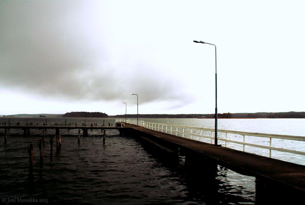 Dark water, sky white        ts1511jm2 by Joni Mansikka