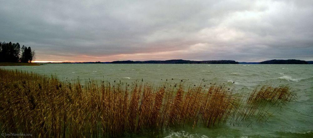 Windy sunset   ob1703jm3 by Joni Mansikka