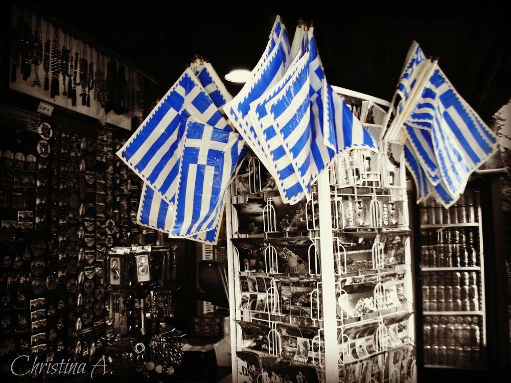 Photo in Random #greek #flag #b&w