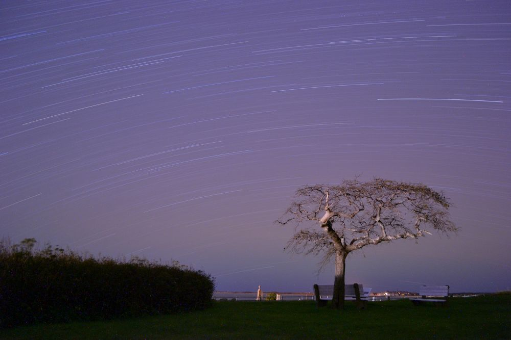 Photo in Astrophotography #stars #star trail #sky #night #cosmos #astrophotography