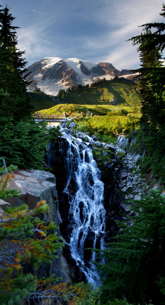 Myrtle Falls, Mt Rainier by bsharts