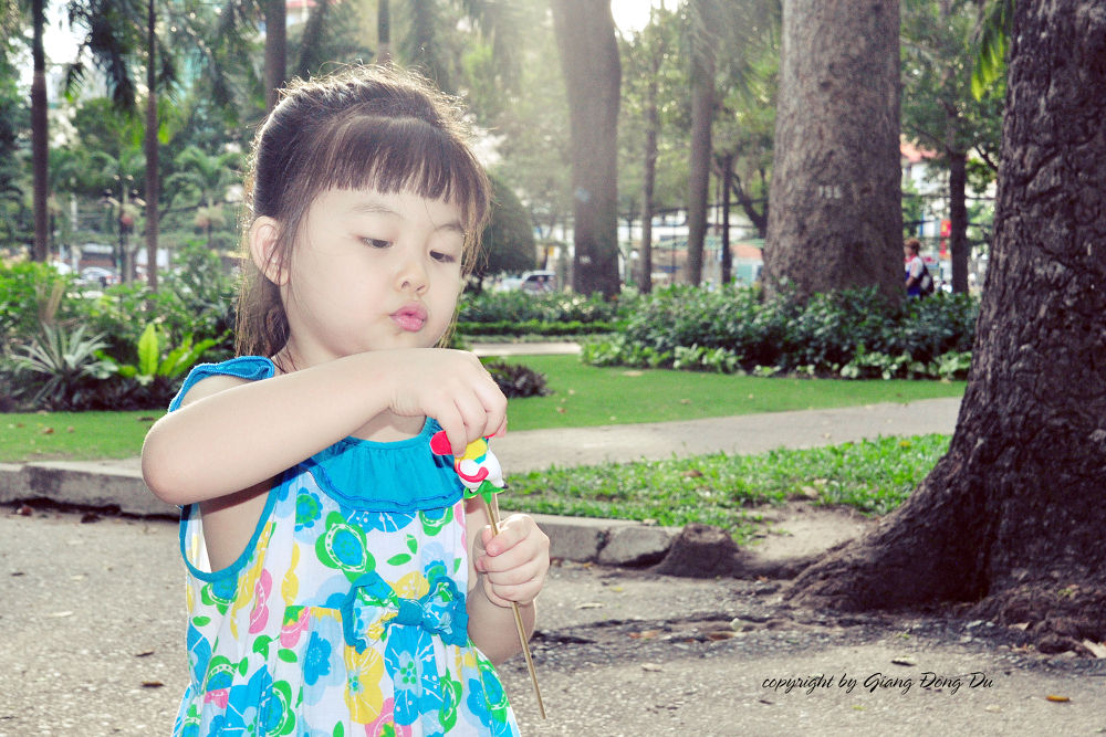 small daughter by Nhat giang