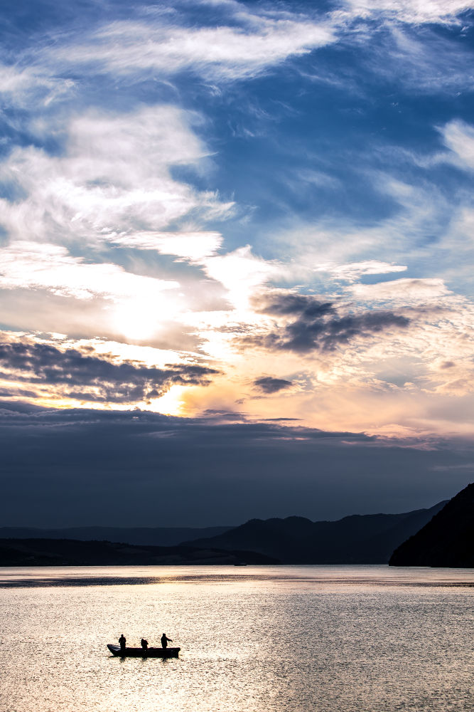 A fishers sunrise by bogdancomanescu