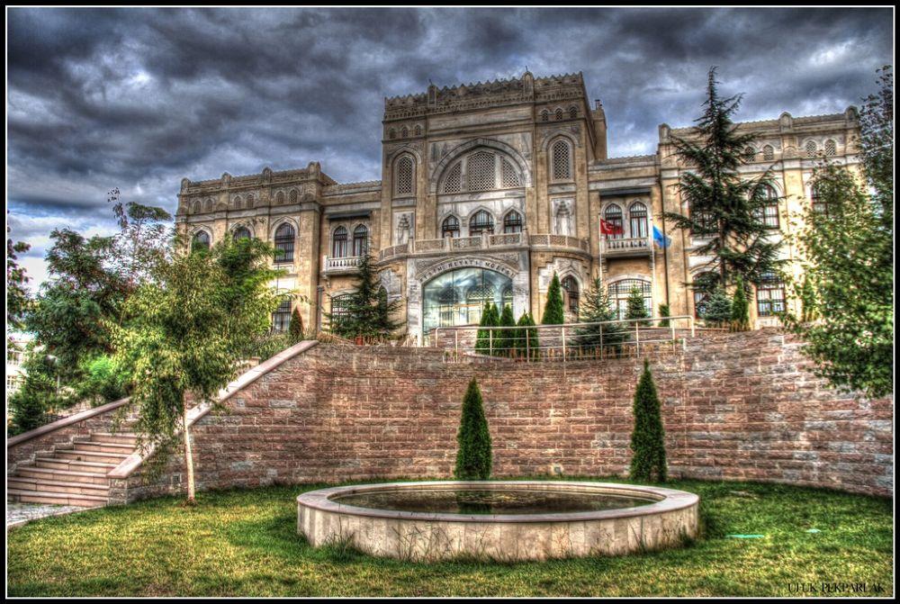 Photo in HDRI #türk oçağı binası #resim heykel müzesi #art and sculpture museum #capital #sky #clouds