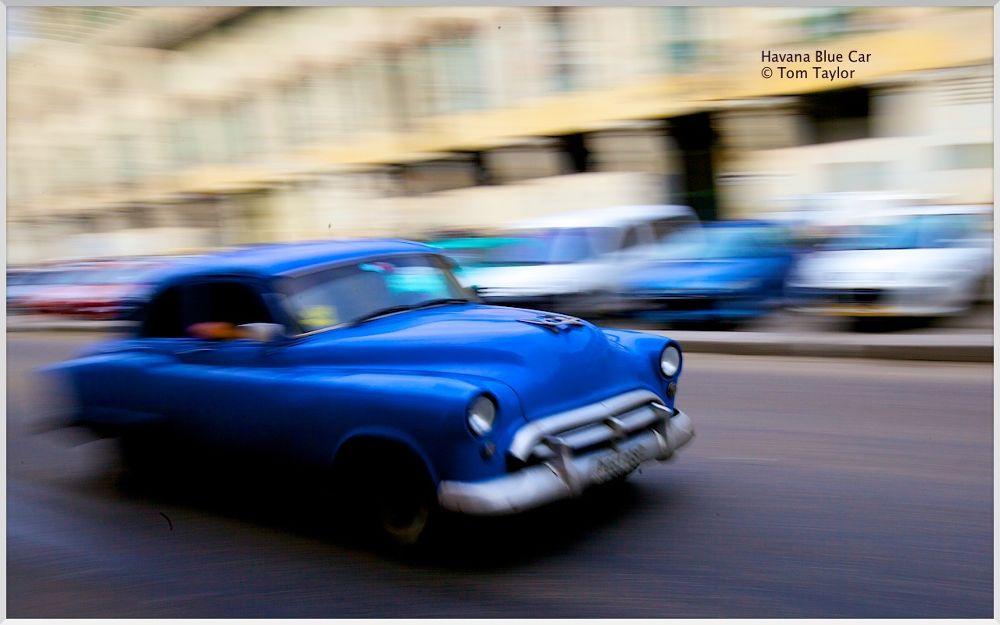 Havana Blue Car by TomTaylor