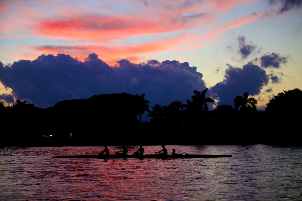 Sunset Rowers by TomTaylor