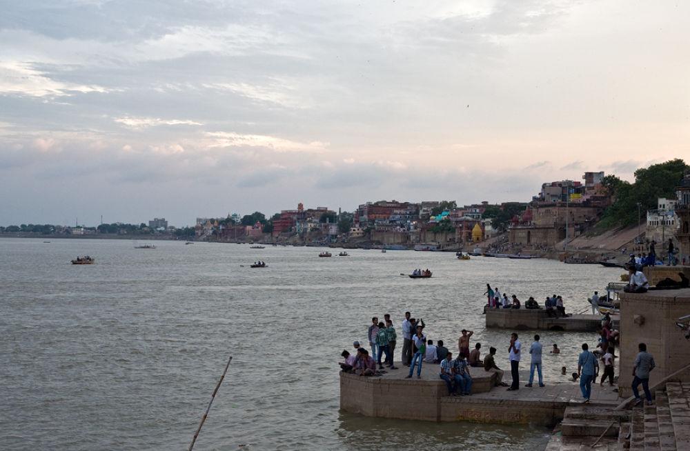 beautiful evening on the ghats of ganga in varanasi by santoshkpandey18
