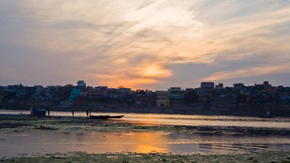 sunset ,varanasi ghats by santoshkpandey18