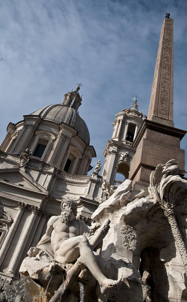 Particolare di Piazza Navona, Fontana del Bernini (Roma) by gianniroccofoto