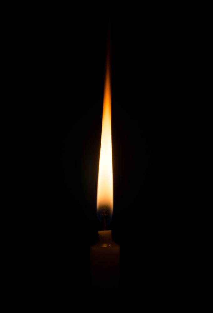 Simple Candle with Flame by Rahul S