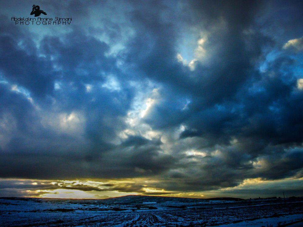 Snow ans sunrise by abdelalimslimani