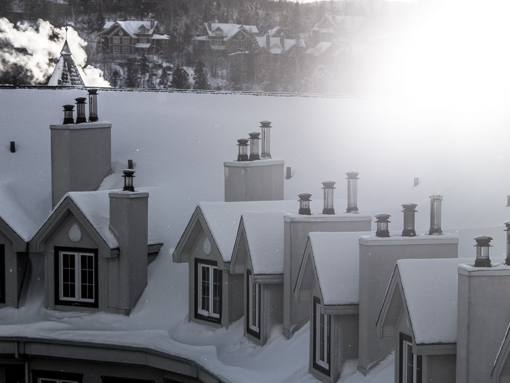 Mont Tremblant roofs  by Elena Anders