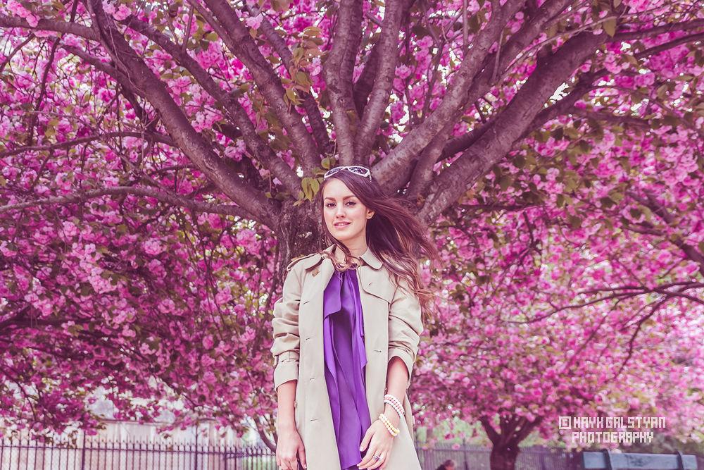 Girl n violet nature by Hayk Galstyan
