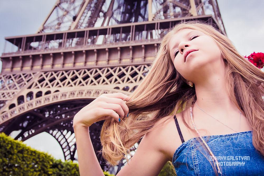 Eiffel girl by Hayk Galstyan