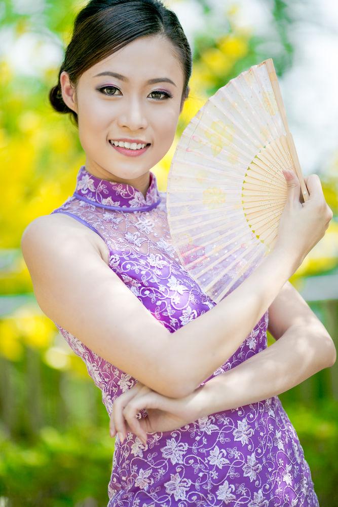 Photo in Fashion #chinese #new #year #girl #oriental #beauty #sexy #purple #portrait #bokeh #malaysia #chinese new year