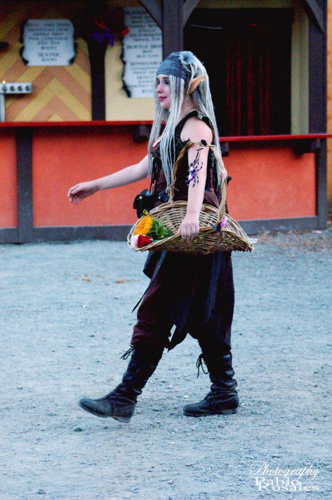 Photo in Random #elf #renaissance faire #roses #basket