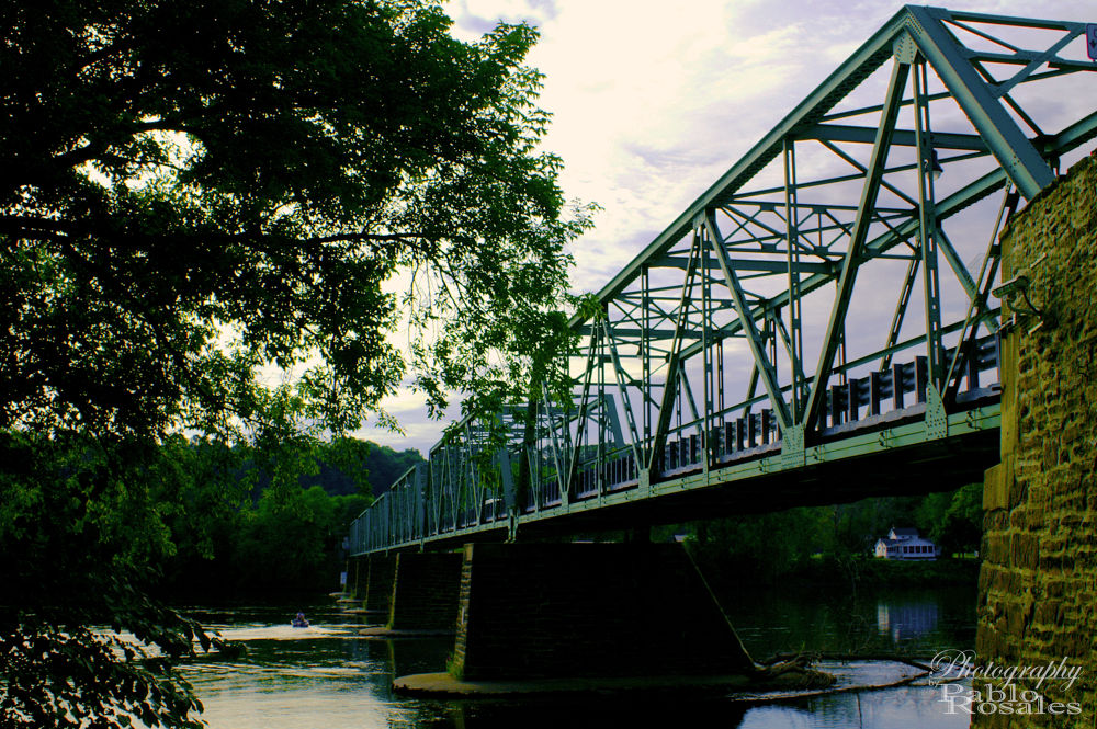 Photo in Architecture #frenchtown #delaware #river #bridge
