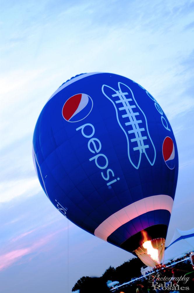 Photo in Random #hot #air #balloon #pepsi #refreshing #football #blue