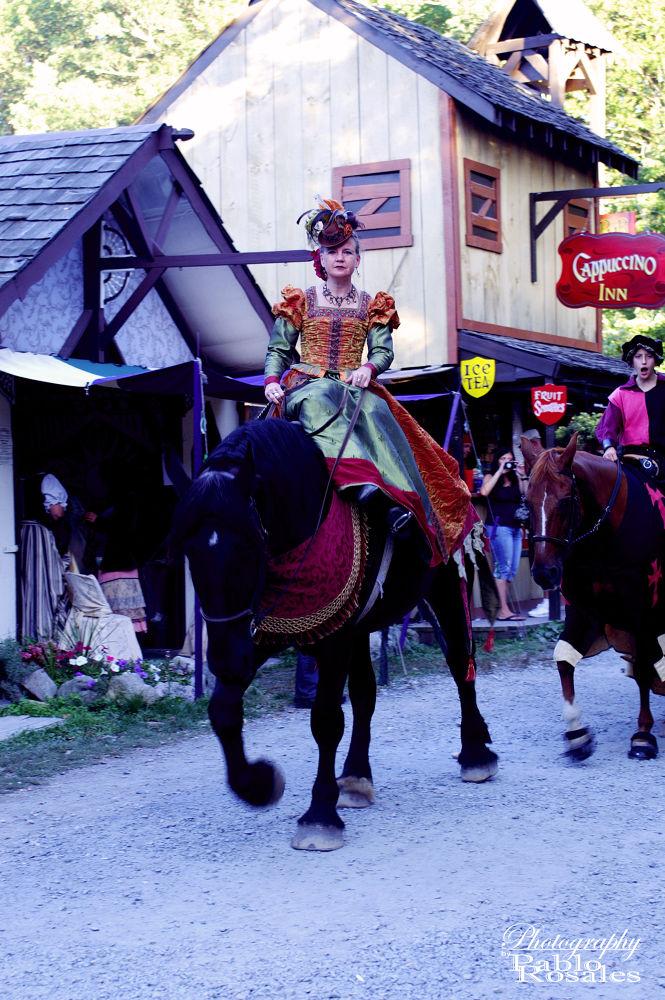 Photo in Random #renaissance #faire #queen #horse back #riding