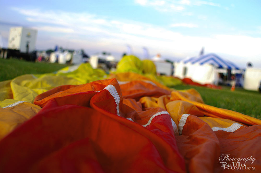 Photo in Random #hot #air #balloon #grounded #orange #yellow #red